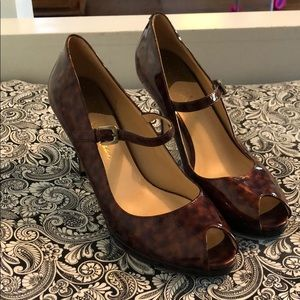 Cole Haan NikeAir Mary Jane leopard pumps, size 8
